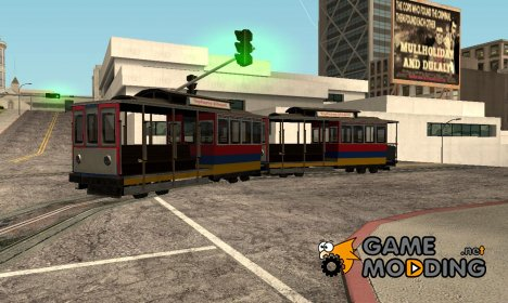 Tram, painted in the colors of the flag v.4 by Vexillum для GTA San Andreas