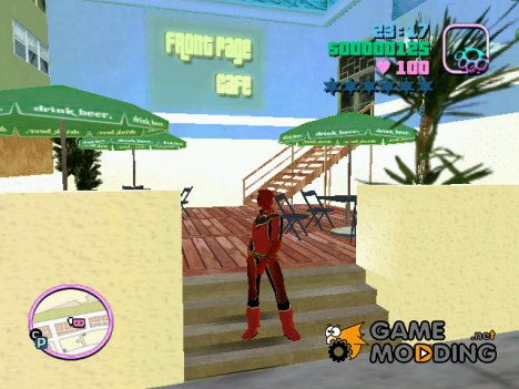 Red Power Ranger Skin for GTA Vice City
