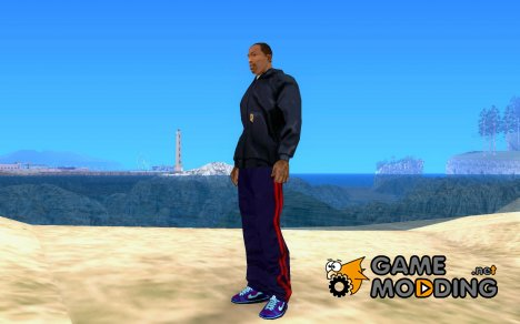 Nike Air Force Ones in Purple and Blue для GTA San Andreas