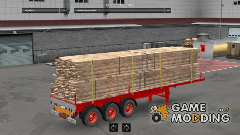 Old School Flatbed Trailer for Euro Truck Simulator 2