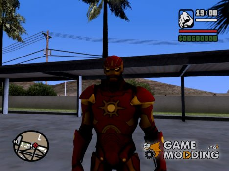 Ironman MK 3 Space GoTG Red для GTA San Andreas