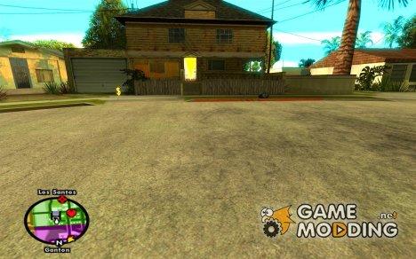 Название улиц над радаром for GTA San Andreas