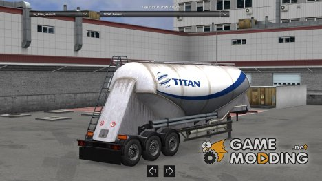 TITAN Cement Trailer skin for Euro Truck Simulator 2