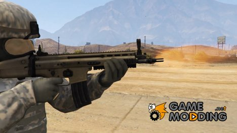 FN Scar-L Non-scoped (Animated) for GTA 5