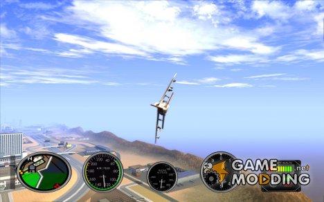 Авиа приборы в самолете for GTA San Andreas