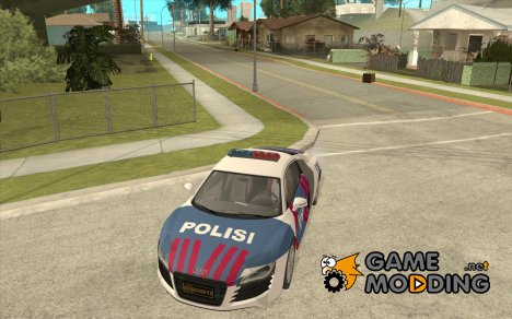 Audi R8 Police Indonesia for GTA San Andreas
