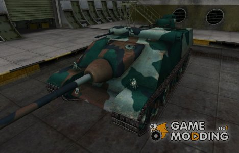 Французкий синеватый скин для AMX AC Mle. 1948 for World of Tanks