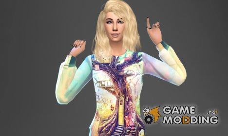 """Женские свитшоты в стиле """"Граффити"""" для Sims 4"""