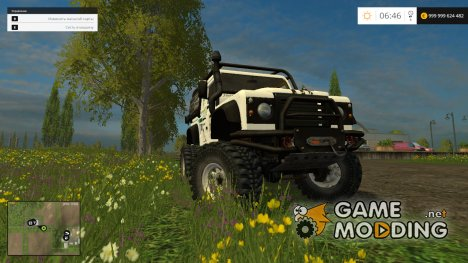Land Rover Defender Dakar White v1.0 для Farming Simulator 2015