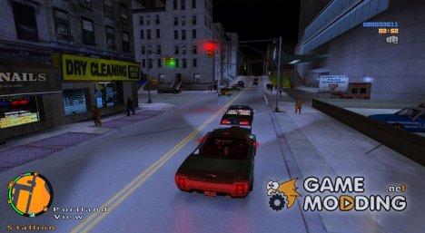 Больше людей и машин на улицах for GTA 3