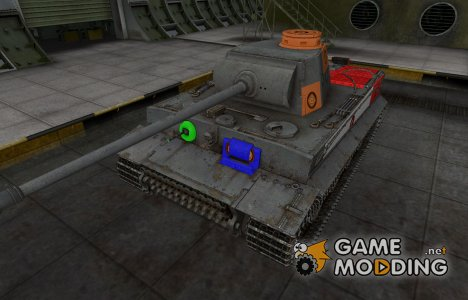 Качественный скин для PzKpfw VI Tiger для World of Tanks