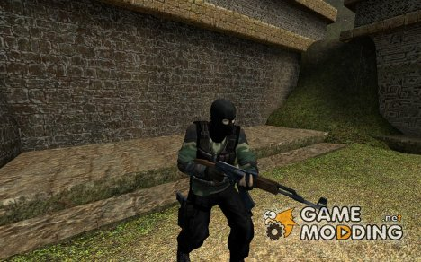 Jungle Camo With Black Mask for Counter-Strike Source