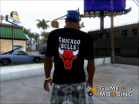 Chicago Bulls Shirt Black для GTA San Andreas
