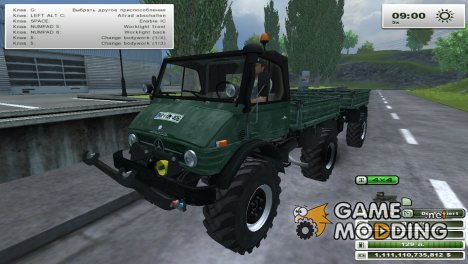 Unimog U 84 406 Series и Trailer v 1.1 Forest for Farming Simulator 2013