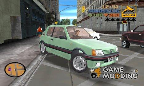 Peugeot 205 GTI для GTA 3