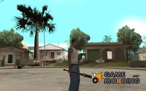 Бита с зелёной повязкой for GTA San Andreas
