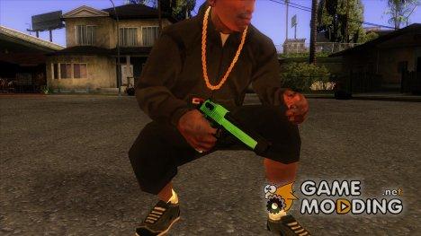 Зеленый Desert Eagle for GTA San Andreas