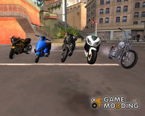 Новые мотоциклы для GTA San Andreas