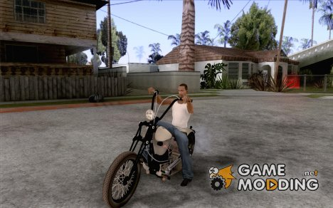 HD Shovelhead Chopper v2.1-матовый для GTA San Andreas