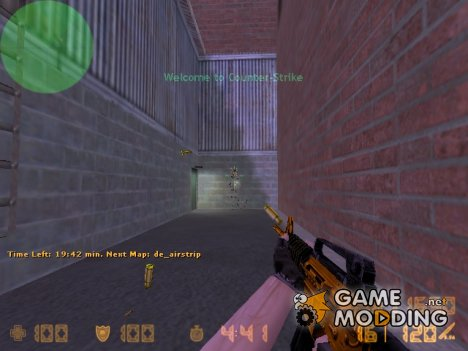 Gold M4A1! для Counter-Strike 1.6
