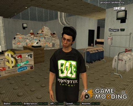 Парень в Monster Energy for GTA San Andreas