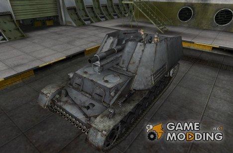 Модифицированный Hummel с танкистами for World of Tanks