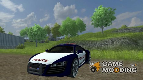 Audi R8 Police car for Farming Simulator 2013