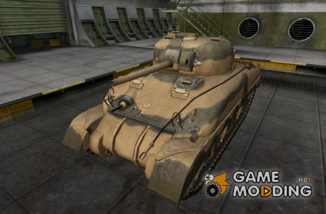 Шкурка для M4 Sherman (+remodel) for World of Tanks