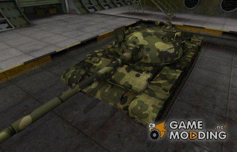 Скин для Т-62А с камуфляжем для World of Tanks