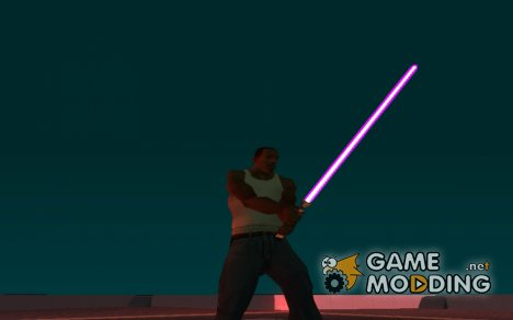 Розовый световой меч v2 для GTA San Andreas