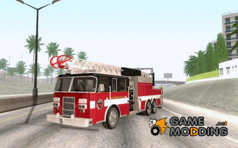 Pierce Firetruck Ladder SA Fire Department для GTA San Andreas