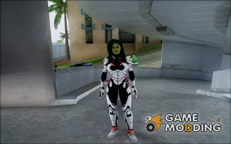 Guardians of the Galaxy Gamora v2 для GTA San Andreas