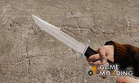 Нож The Alabama Slammer хромированный для GTA 4