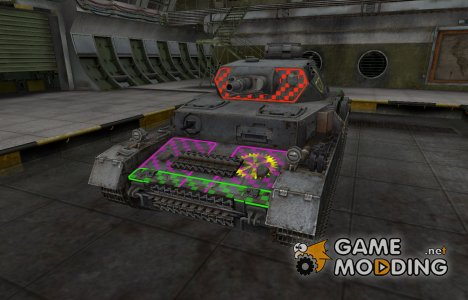 Качественные зоны пробития для PzKpfw IV for World of Tanks