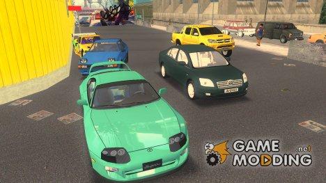 Пак машин Toyota для GTA 3