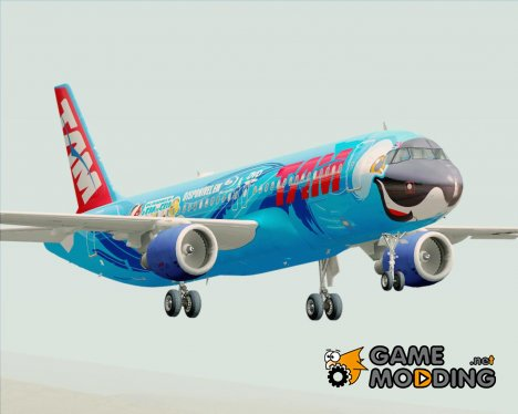 Airbus A320-200 TAM Airlines - Rio movie livery (PT-MZN) для GTA San Andreas