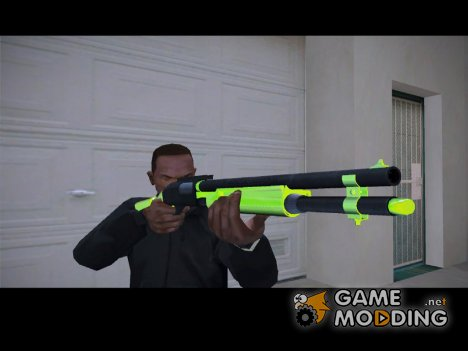 Chromegun chrome green для GTA San Andreas