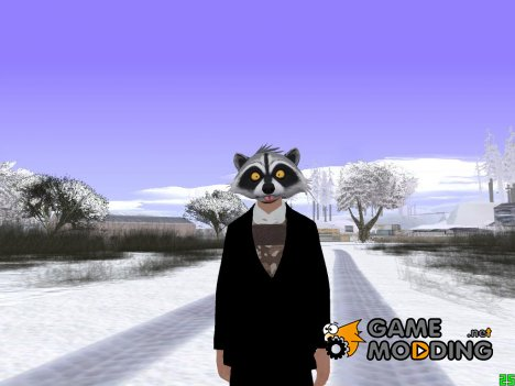 Skin GTA online в маске енота v3 для GTA San Andreas