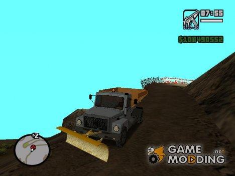 ГАЗ 3309 Снегоуборочная для GTA San Andreas