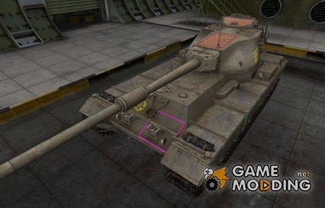 Контурные зоны пробития FV215b для World of Tanks