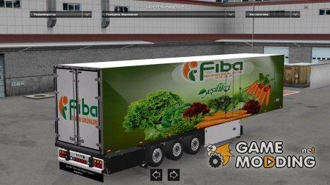 Fiba Tarım Ürünleri Trailer для Euro Truck Simulator 2