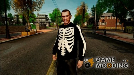 Black Skeleton Jumper для GTA 4