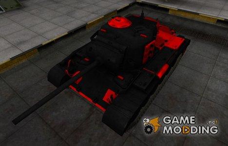 Черно-красные зоны пробития M26 Pershing для World of Tanks