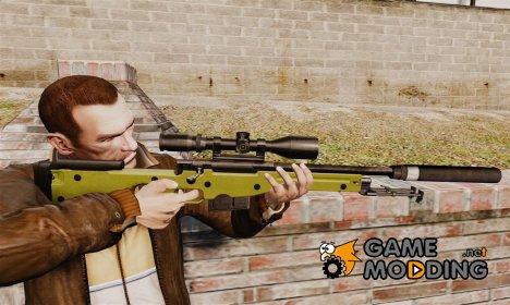 Снайперская винтовка AW L115A1 с глушителем v3 for GTA 4