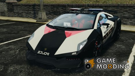Lamborghini Sesto Elemento 2011 Police v1.0 [ELS] для GTA 4