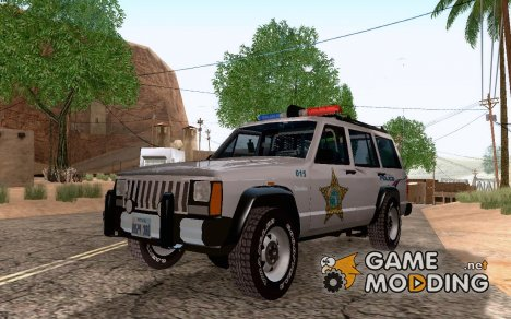 Jeep Cherokee Police 1988 for GTA San Andreas