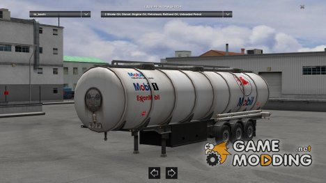 Mobil Fuels and Oils Tanker for Euro Truck Simulator 2
