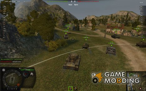 Дамаг панель для WoT для World of Tanks
