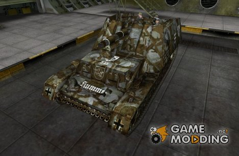Модель Hummel с экипажем for World of Tanks