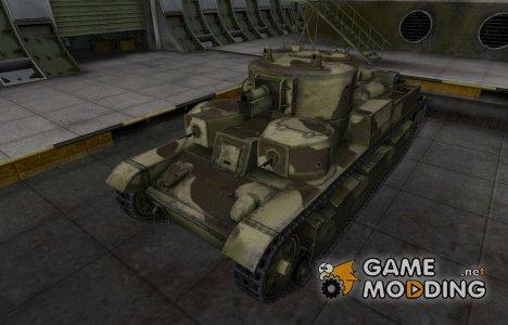 Пустынный скин для Т-28 для World of Tanks